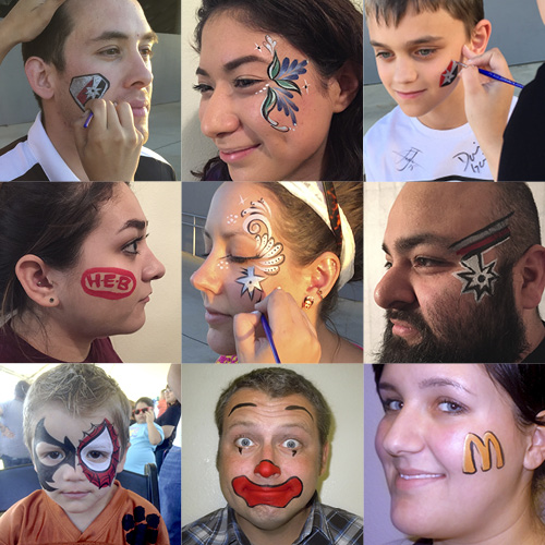 Various examples of custom facepaints